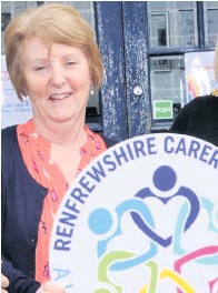 ??  ?? Working hard Maureen Caldwell, chairperson of Renfrewshire Carers Centre