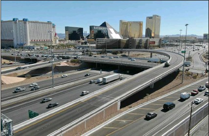 ?? Michael Quine Las Vegas Review-journal @Vegas88s ?? The Tropicana Avenue ramp over Interstate 15 is deteriorating due to increased traffic volume. Restructuring plans call for creating a diamond on-ramp and off-ramp configuration.