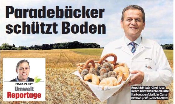 ??  ?? Resch& Frisch- Chef Josef Resch revitalisierte die alte Kartonagenfabrik in Gunskirchen ( OÖ) – vorbildlich!