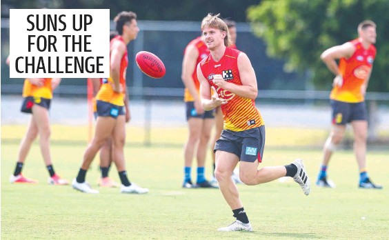 ??  ?? Noah Anderson says the Suns look forward to going up against leading teams Brisbane and Geelong. Picture: Chris Hyde/Getty Images