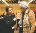 ??  ?? Journalist Jenni Monet shares a discussion with the owner of the Santa Fe New Mexican Robin Martin.