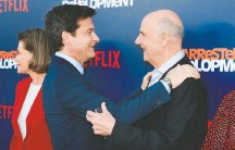 ?? RICH FURY/GETTY IMAGES ?? Jason Bateman, left, apologized for his responses during a New York Times interview about the allegations against Jeffrey Tambor.