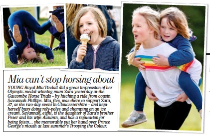 f40f03ede Mia can t stop horsing about. The Mail on Sunday - 2019-03-24 - News -. YOUNG  Royal Mia Tindall did a great impression of her Olympic medal-winning mum  Zara ...