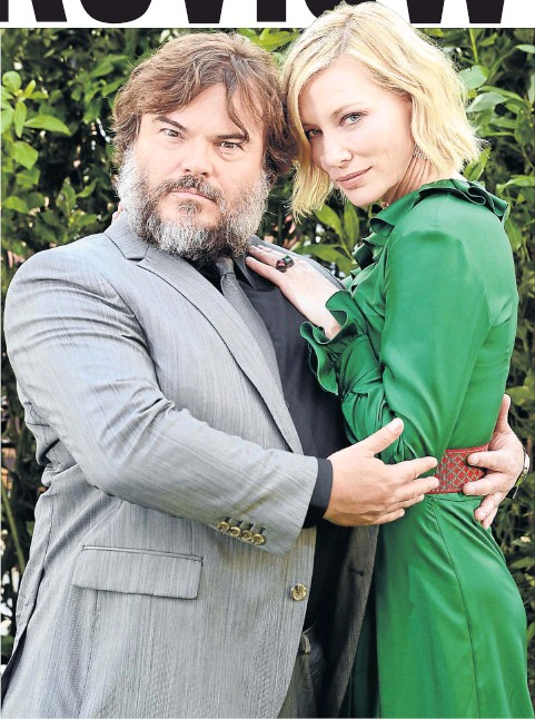 ?? Picture: Dave J Hogan/Getty Images ?? Jack Black and Cate Blanchett at the world premiere of 'The House With a Clock In Its Walls'.