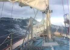 ??  ?? Wet, cold and wild... Rand encountered typical Southern Ocean wave and wind conditions