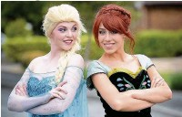 ?? Dominic Salter ?? Helena Smith as Elsa and Francesca Kirk as Anna from the hit Disney film