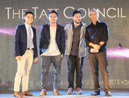 ??  ?? Left-Right: Ray Guinoo, Director for Tattoo Nomadic Broadband of Globe Telecom with members of the Tatt Council, Mike Carandang, Quark Henares and Jim Paredes
