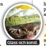 ??  ?? Glass och konst.