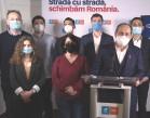 ?? FOTO: FACEBOOK ?? Consilierii USR PLUS, în frunte cu Tomescu, au anunțat că nu votează bugetul în forma propusă.