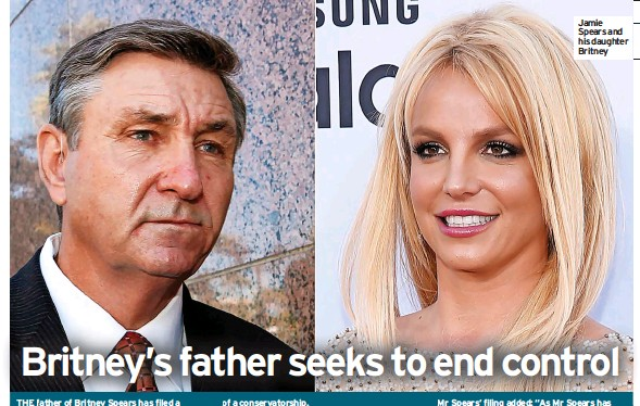 ??  ?? Spears and his daughter Britney