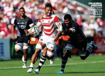 ??  ?? Both Fiji and Japan will bring open rugby and creativity to the Northern Hemisphere. COLOURFUL ADDITION