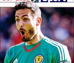 ??  ?? NEW BAWL GAME: Craig Gordon shouts out his instructions yesterday