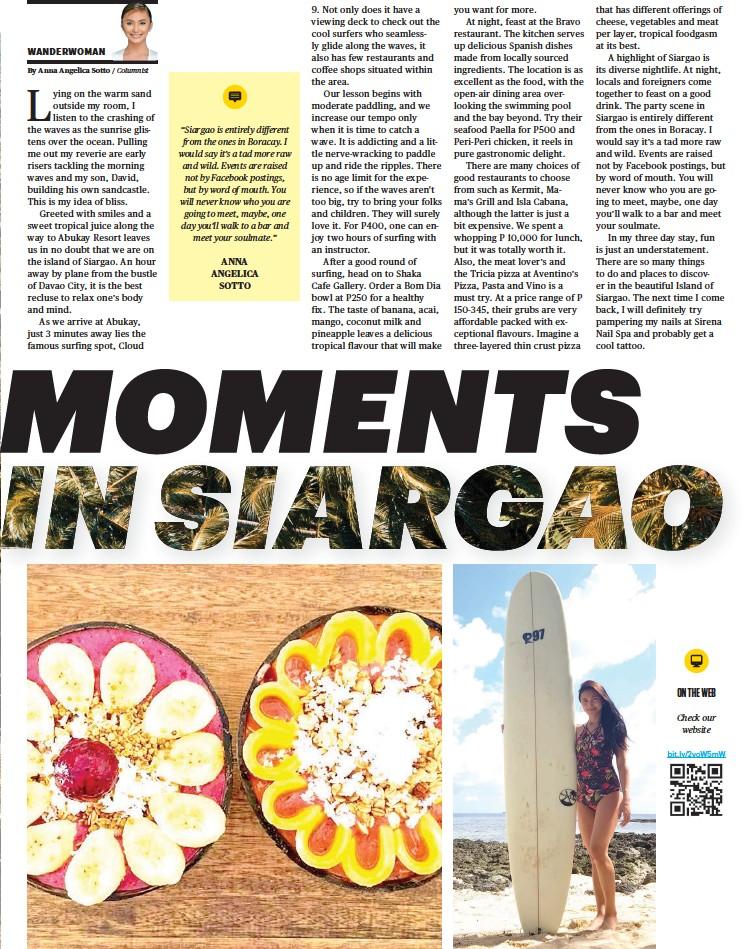 Pressreader Sunstar Davao 2018 09 07 Moments In Siargao