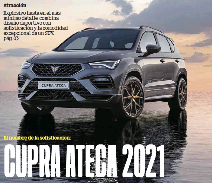 ?? /CUPRA ?? Poder. Cupra Ateca porta un ADN deportivo y de competencia, con motor turbo de 300 caballos de potencia.
