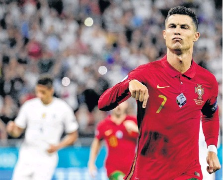 ?? REUTERS ?? Portugal's Cristiano Ronaldo leads his nation's side into the Round of 16 against Belgium on Sunday.