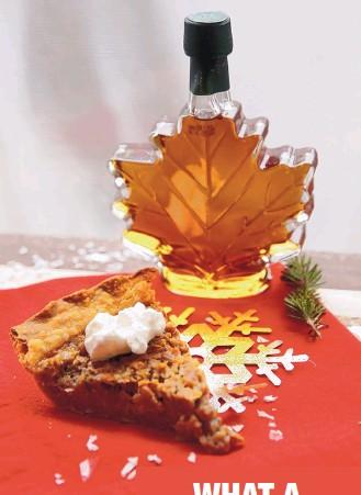 ?? LAURIE SKRIVAN/ ST. LOUIS POST-DISPATCH ?? Maple-walnut pie is reminiscent of pecan pie.