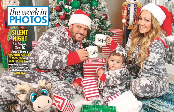 Jersey Shores Ronnie Ortizmagro And Jen Harley Quit Arguing To Pose For A Christmas Card With  Month Old Ariana