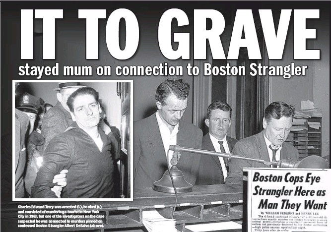 ??  ?? Charles Edward Terry was arrested (l.), booked (r.) and convicted of murdering a tourist in New York City in 1963, but one of the investigators on the case suspected he was connected to murders pinned on confessed Boston Strangler Albert DeSalvo (above).