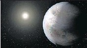 ?? NASA ?? ONE POSSIBLE appearance of the exoplanet Kepler-452b is depicted in an artist's rendering.