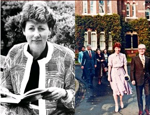 ??  ?? ABOVE, RIGHT: Elizabeth is accompanied by her father Jim (above, right), mum Jean (behind) and husband-to-be Bill Pruitt on their wedding day in 1981. Five years after the wedding, Bill died from HIV/ AIDS. ABOVE, LEFT: Elizabeth helped to draft the...