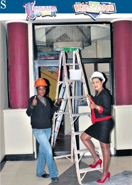 ??  ?? General Manager Pam Nagappa (right) shares her excitement about the upgrades with construction worker Nozipho Ndlovu