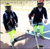??  ?? Sébastien et Jérôme sous haute protection