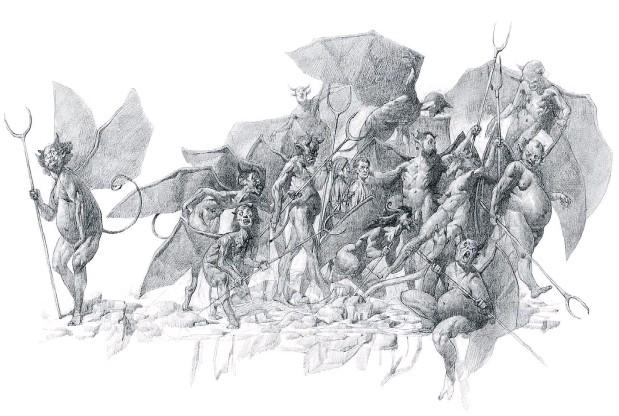 ??  ?? Uno de los dibujos de Julián de la Mota que acompañan la nueva edición.