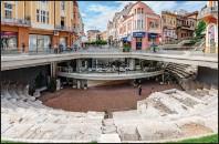 ??  ?? Roman stadium seating under downtown Plovdiv