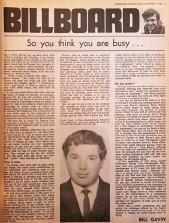 ??  ?? Below: Bill's weekly column from Speedworld International magazine