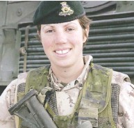 ?? HANDOUT ?? Capt. Nichola Goddard was killed in Afghanistan in 2006. Her sister co-founded a group called Not Left Behind.