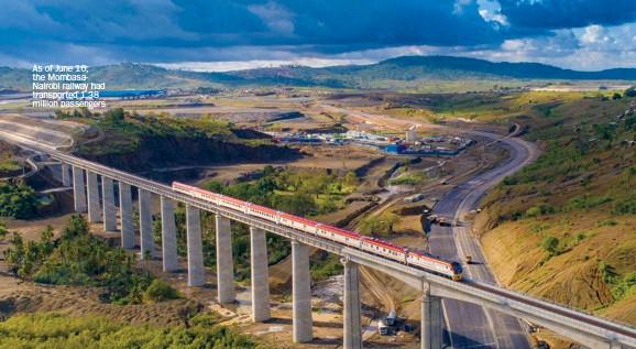 ??  ?? As of June 10, the Mombasanairobi railway had transported 1.38 million passengers