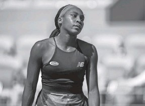 ?? SUSAN MULLANE/USA TODAY SPORTS ?? Coco Gauff reacts Wednesday during her straight-sets loss to Barbora Krejcikova in the French Open quarterfinals.