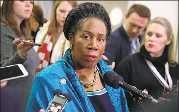 ?? Alex Wong Getty Images ?? HR 40, introduced by Rep. Sheila Jackson Lee, would form a commission to study the idea of reparations.
