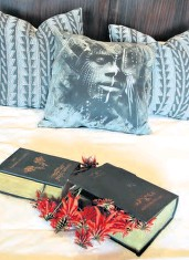 ??  ?? A book and Erythrina arrangement by Lenie Henderson
