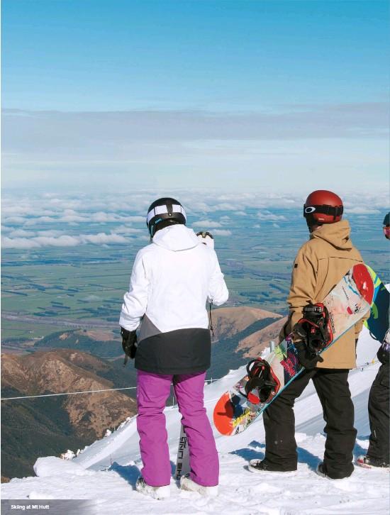 ??  ?? Skiing at Mt Hutt