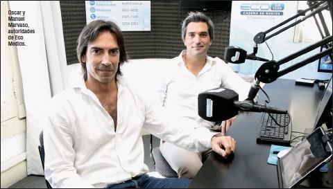 ??  ?? Oscar y Manuel Marvaso, autoridades de Eco Medios.