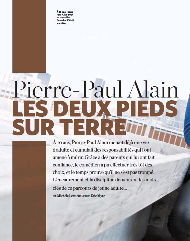 ??  ?? À 16 ans, PierrePaul Alain avait un conseiller financier. C'était son idée.
