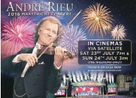 ??  ?? The prize also includes two standard return train fares and hotel accommodation for one night! Visit www.andreincinemas.com for all participating cinemas. Concert tickets are only valid for André Rieu's 2016 UK December arena tour.