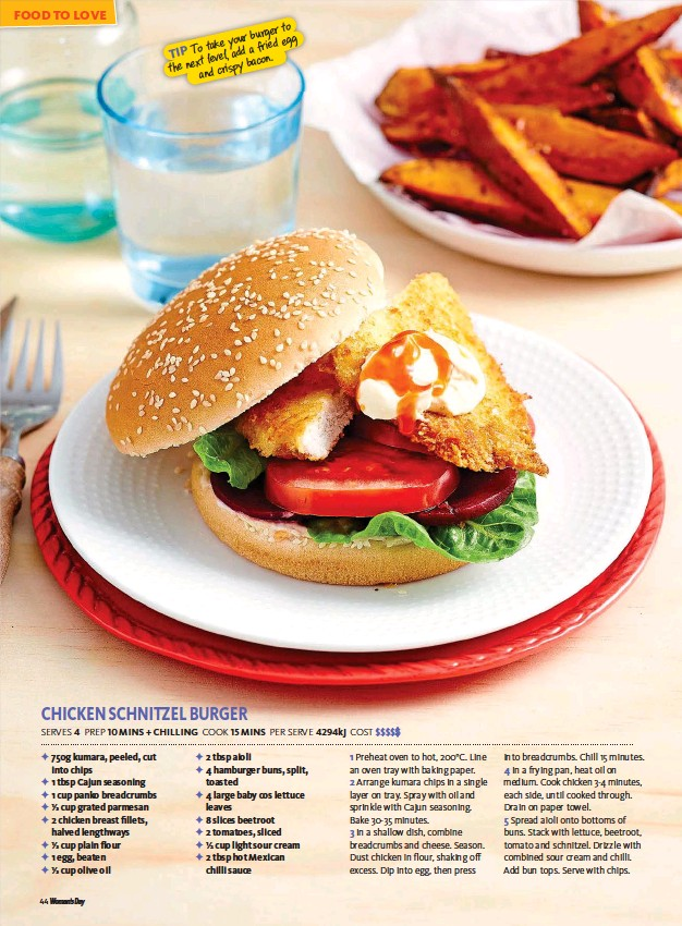 Chicken Schnitzel Burger Pressreader