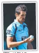 ??  ?? NSW quick Mitch Starc.