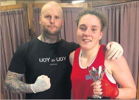 ??  ?? Coach Zedda Harrington with boxer Ellie Fry.
