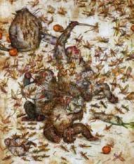 ??  ?? INSTINTO ANIMAL Para Mu Pan somos monos parlantes y recurrimos a la violencia como solución final. Locusts (2015).