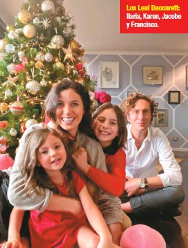 ??  ?? Los Leal Daccarett: Ilaria, Karen, Jacobo y Francisco.