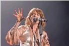 ?? TONY WOOLLISCROFT, WIREIMAGE ?? Florence + the Machine will rock out at Austin City Limits.