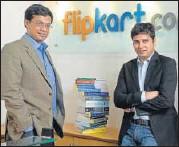 ?? MINT/FILE ?? Flipkart founders Sachin Basal and Binny Bansal