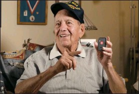 ??  ?? WWII HERO GETS TO STAY AT HOME: Pete Shaw has always been sharp as a tack, but when the minor falls started, Pete nearly landed in a nursing home. But Pete dodged all that when his daughterin-law found this number (1-800-929-8049 EXT: FHHW506) and got him a tiny medical alert device that instantly connects him to help whenever and wherever he needs it with no monthly bills ever.