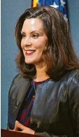 ?? Foto: dpa ?? Gouverneurin Gretchen Whitmer sollte entführt werden.