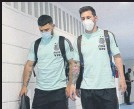 ?? FOTO: AFA ?? Messi y Agüero jugaron ante Chile
