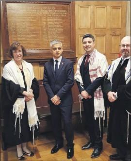 ??  ?? Rabbi Mitchell (second from right) with London Mayor Sadiq Khan