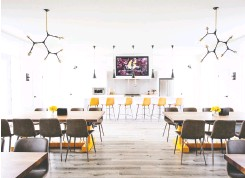 """?? Photo courtesy Bistro 6 ?? Barrie's Bistro 6's indoor Community Kitchen is said to feature Ontario's first """"kitchen library"""" stocked with utensils and small appliances for residents to borrow."""